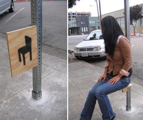 DIY Urbanism Furniture Sign Chair