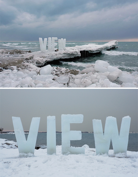 Ice Typography 2