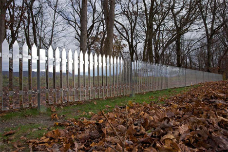 Mirrored Picket Fence Illusion 4
