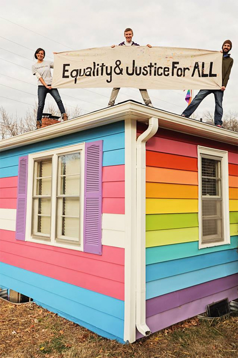 Spite House Gay Pride Westboro 1