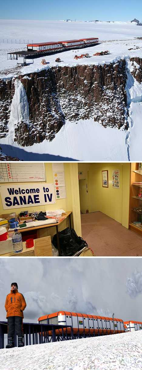 South Africa SANAE IV research base antarctica