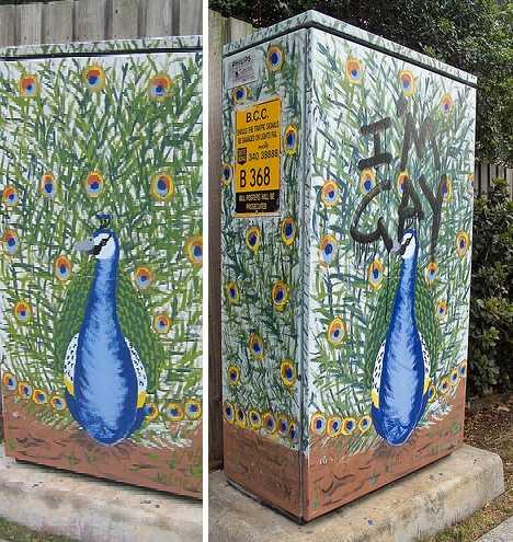 Erin Gregory Brisbane graffiti traffic light signal box art