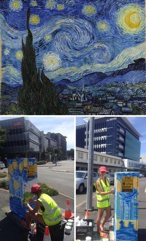 Brisbane traffic light signal box art