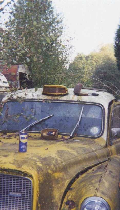 abandoned London Taxi cab