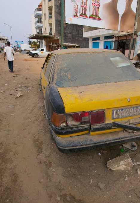 abandoned taxi Dakar Senegal