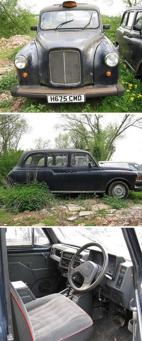 abandoned London Cab taxi FX4 LT1