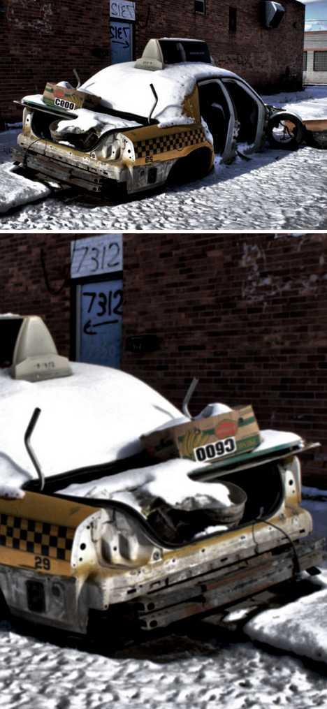 abandoned taxi cab Detroit