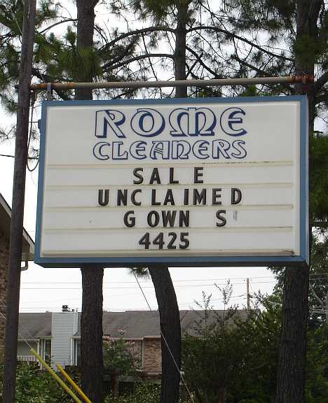 abandoned Rome dry cleaners Baton Rouge