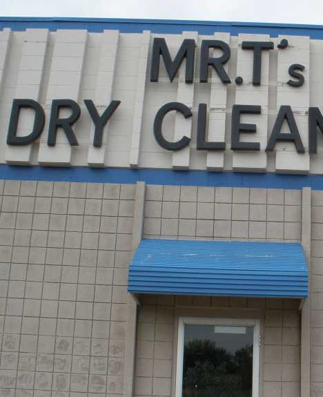 abandoned Mr. T's Dry Cleaning Coon Rapids mall
