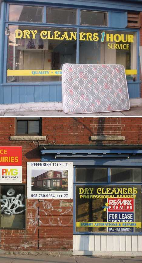 abandoned Toronto dry cleaners