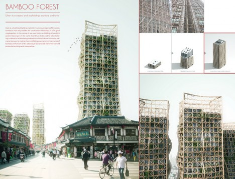 evolo bamboo forest skyscraper