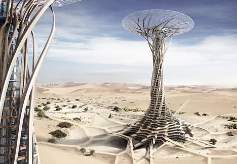 evolo desert 3d printed tower