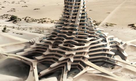 evolo sandscraper base footprint