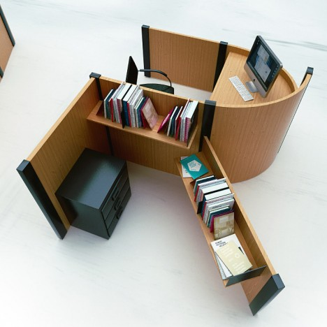 cubicle typography: unique desks as office furniture font | urbanist