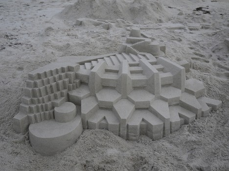 geometric sand building design