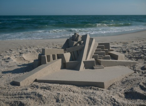 geometric sand castle art