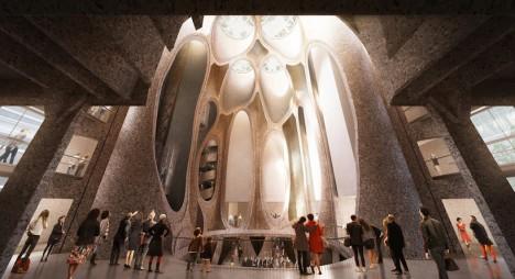 grain silo interior space