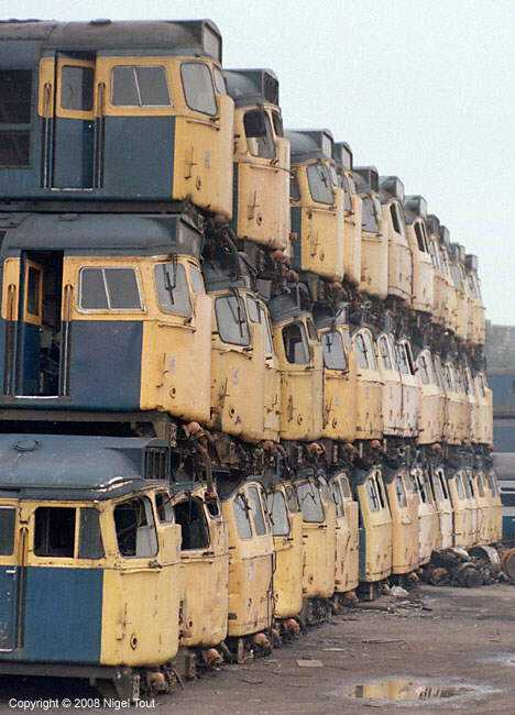 Vic Berry's Scrapyard train graveyard stack