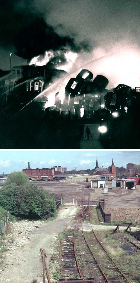 Vic Berry's Scrapyard train graveyard fire Leicester