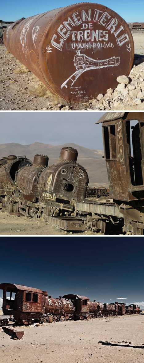 Uyuni Bolivia train cemetery graveyard
