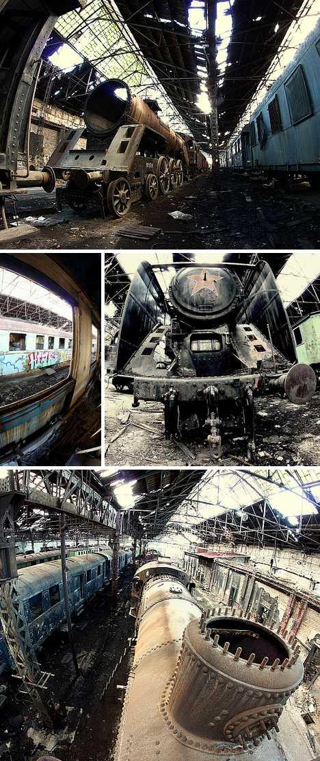 Istvántelki F?m?hely Budapest Hungary train graveyard