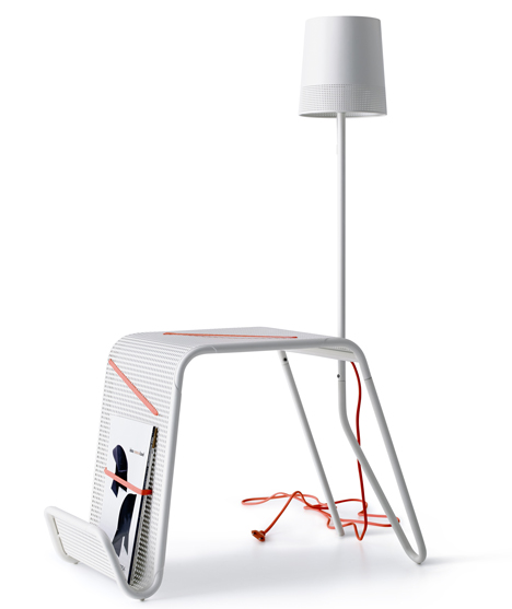 ikea integrated lamp side table