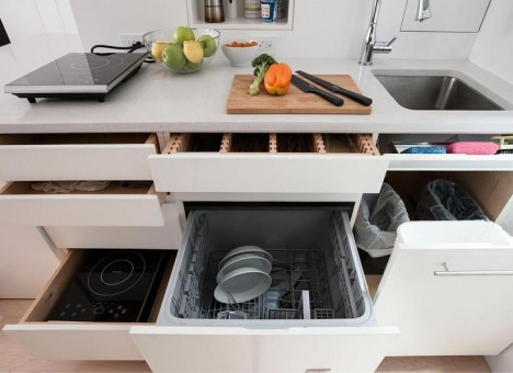 small space kitchen drawers