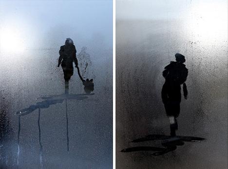 steam water walking alone