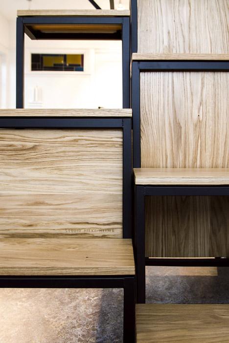steel wood alternating design