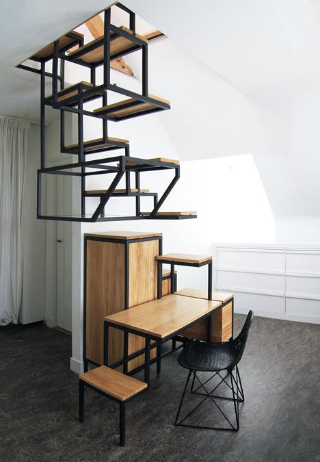 steel wood skylight chair