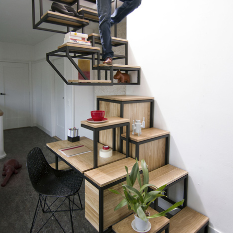 steel wood staircase design