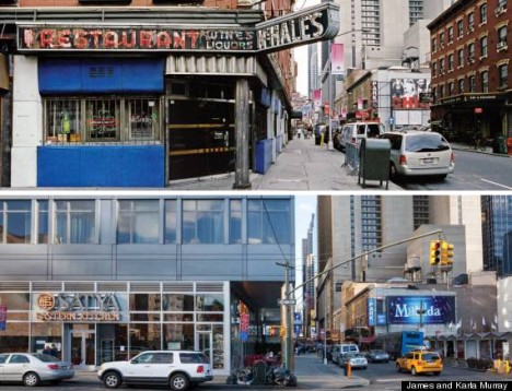 store front then now