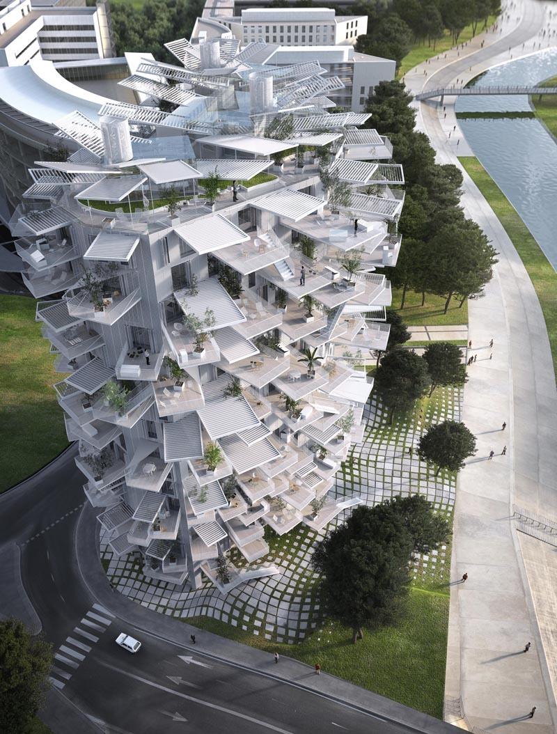 tree shaped tower balconies