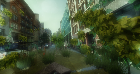 urban jungle side street