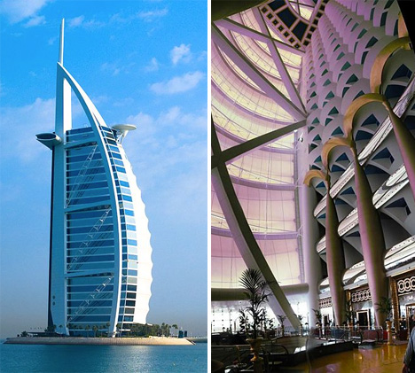 Destination design 12 forward thinking modern hotels Burj al arab architecture