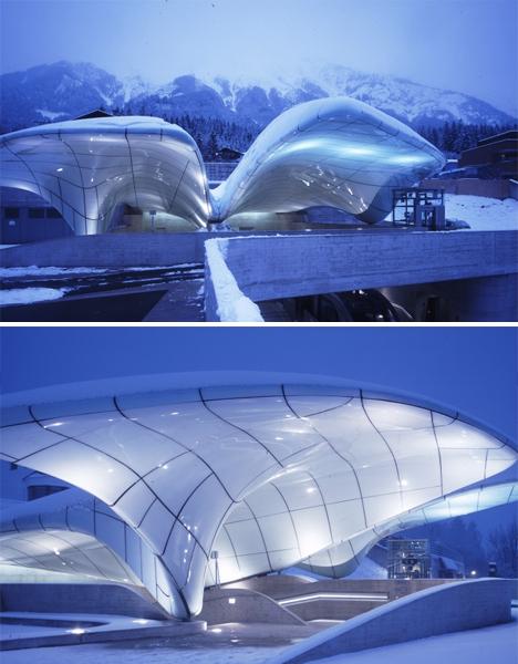 Mountain Architecture Glacier Hadid