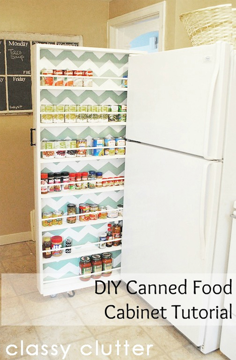 Small Apartment Hacks Canned Food Organizer