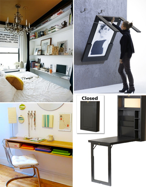 Small Desk Ideas Tiny Apartments Space Saving