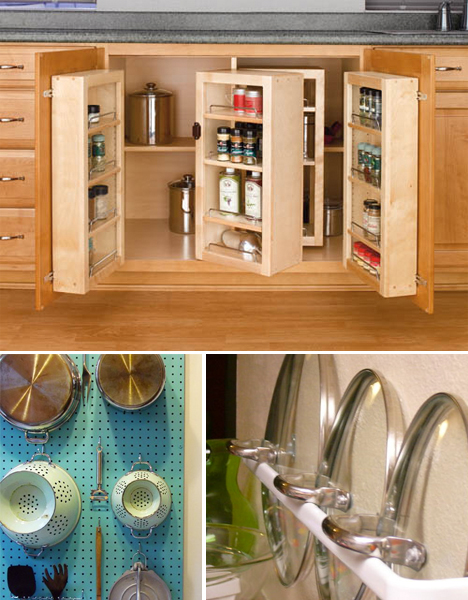 Small space hacks 24 tricks for living in tiny apartments for Tiny apartment kitchen solutions