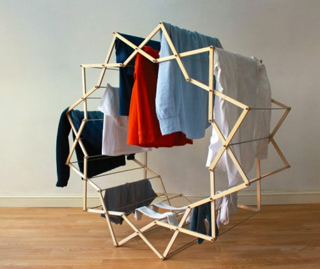 Small space hacks 24 tricks for living in tiny apartments urbanist - Laundry drying racks for small spaces property ...