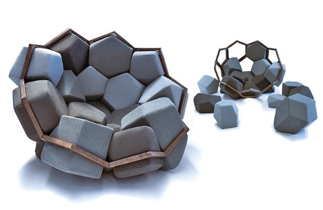 Stone Furniture Boulder Chair