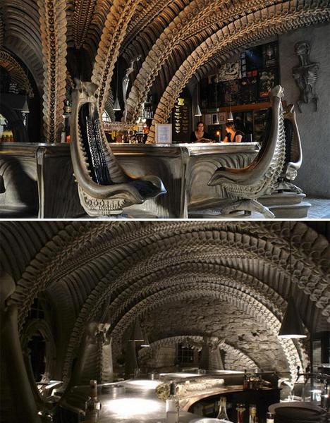 Surreal Interiors Giger Bar