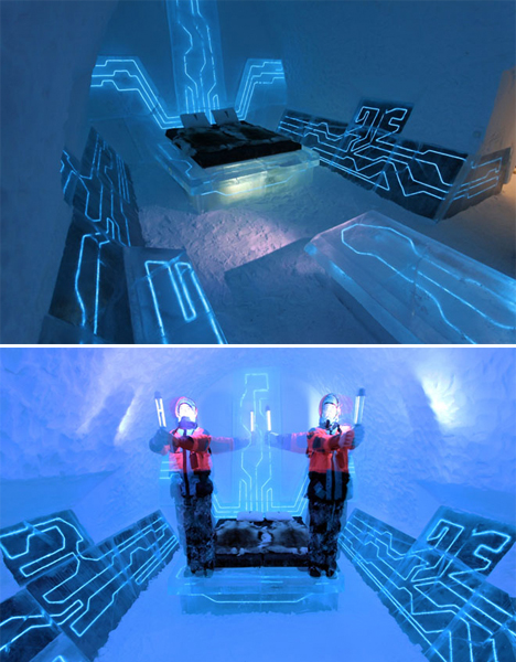 Surreal Interiors Tron Ice Hotel