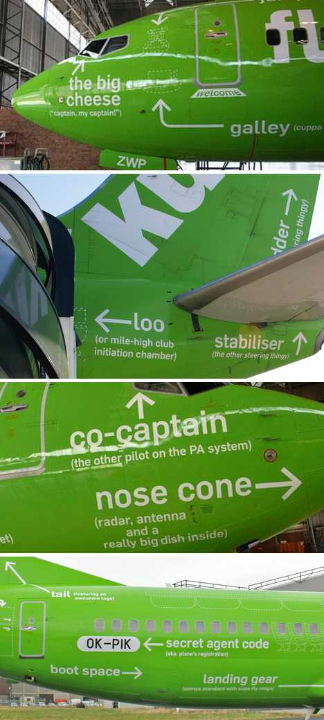 Kulula Airlines Flying 101 infographic painted airplane