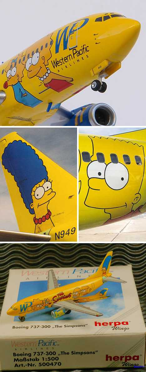 Western Pacific Airlines Simpsons jet