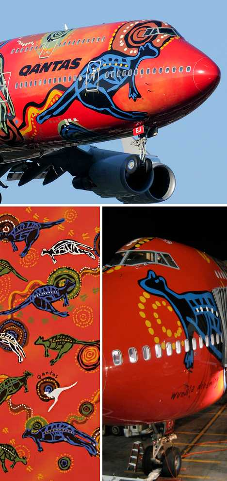 Wunala Dreaming Qantas 747 jet art