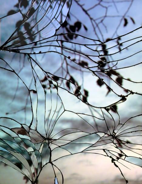 broken reflection photo series