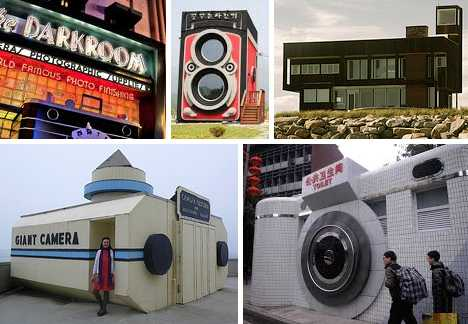 camera-shaped buildings