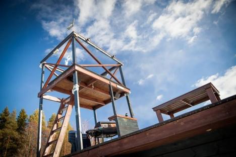floating sauna upper levels