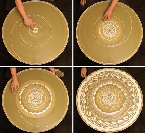 spinning circle works of art